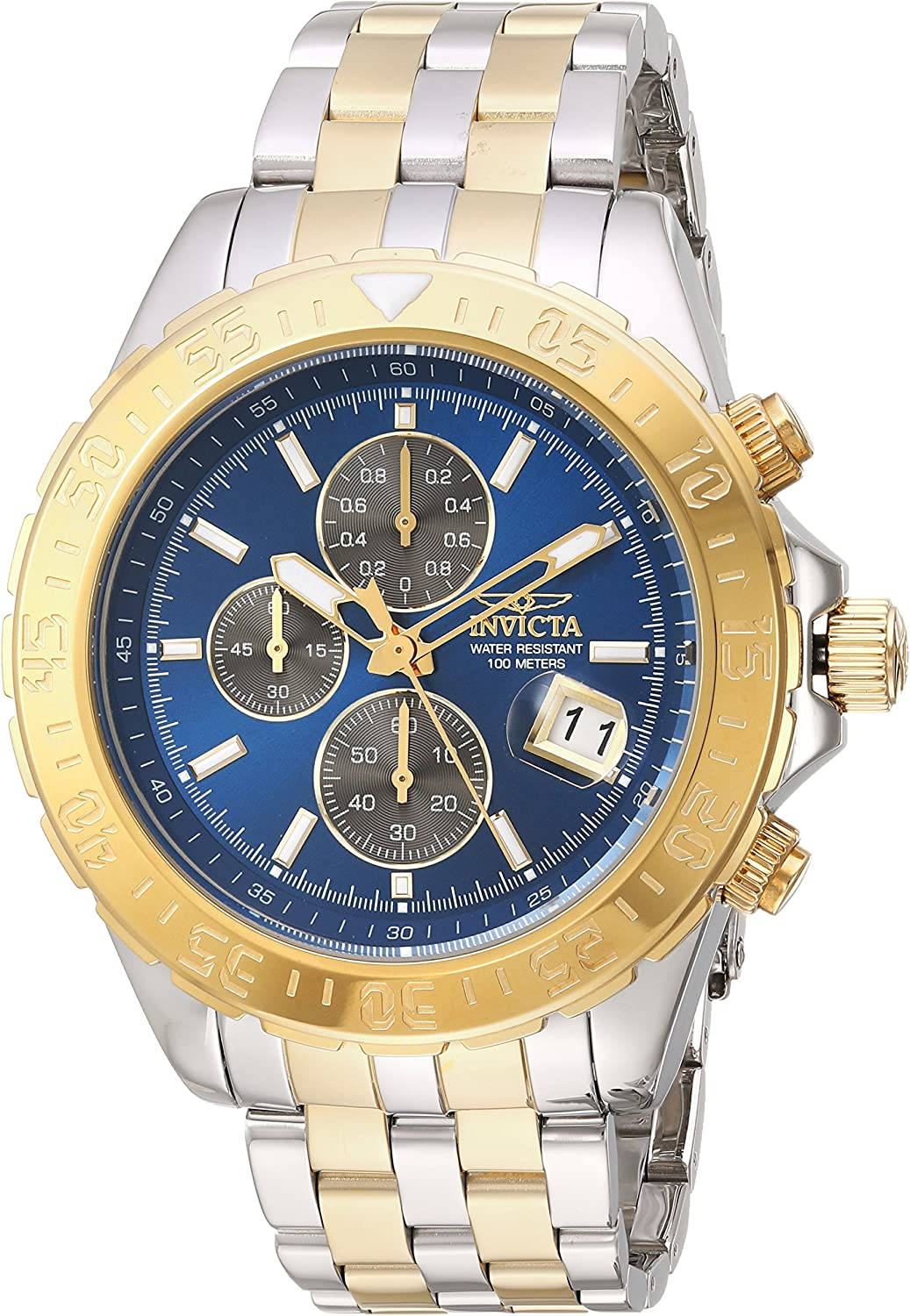 Invicta Men s Aviator Quartz Watch with Two-Tone-Stainless-Steel Strap, 22 Model 22989