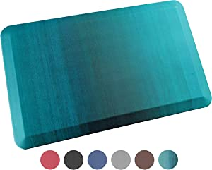 Anti Fatigue Comfort Floor Mat By Sky Mats -Commercial Grade Quality Perfect for Standup Desks, Kitchens, and Garages - Relieves Foot, Knee, and Back Pain (20x32x3/4-Inch, Green Ombré)
