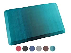 Anti Fatigue Comfort Floor Mat By Sky Mats - Commercial Grade Quality Perfect for Standup Desks, Kitchens, and Garages - Relieves Foot, Knee, and Back Pain, 20x39x3/4-Inch, Green Ombré
