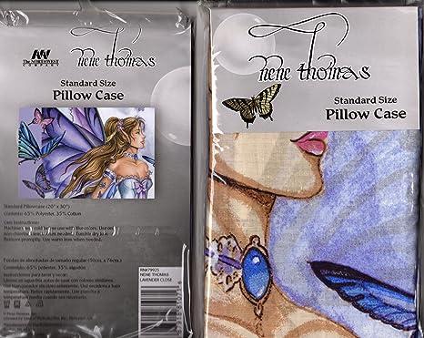 Amazon.com: Nene Thomas Hada lavanda Close Funda de almohada ...
