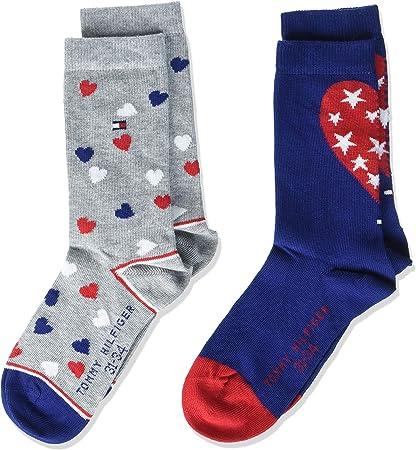 Packs dos calcetines algodón Tommy Hilfiger 484011001563 Azul