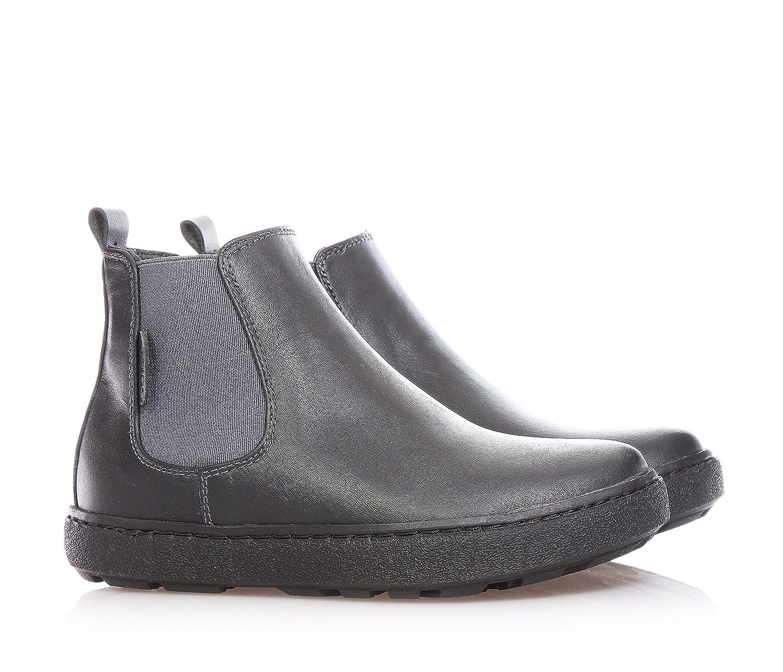 Guess Gris Botines de piel, elástico páginas, placa con logo, costuras visibles y suela de goma, joven, color Gris, talla 28: Amazon.es: Zapatos y ...