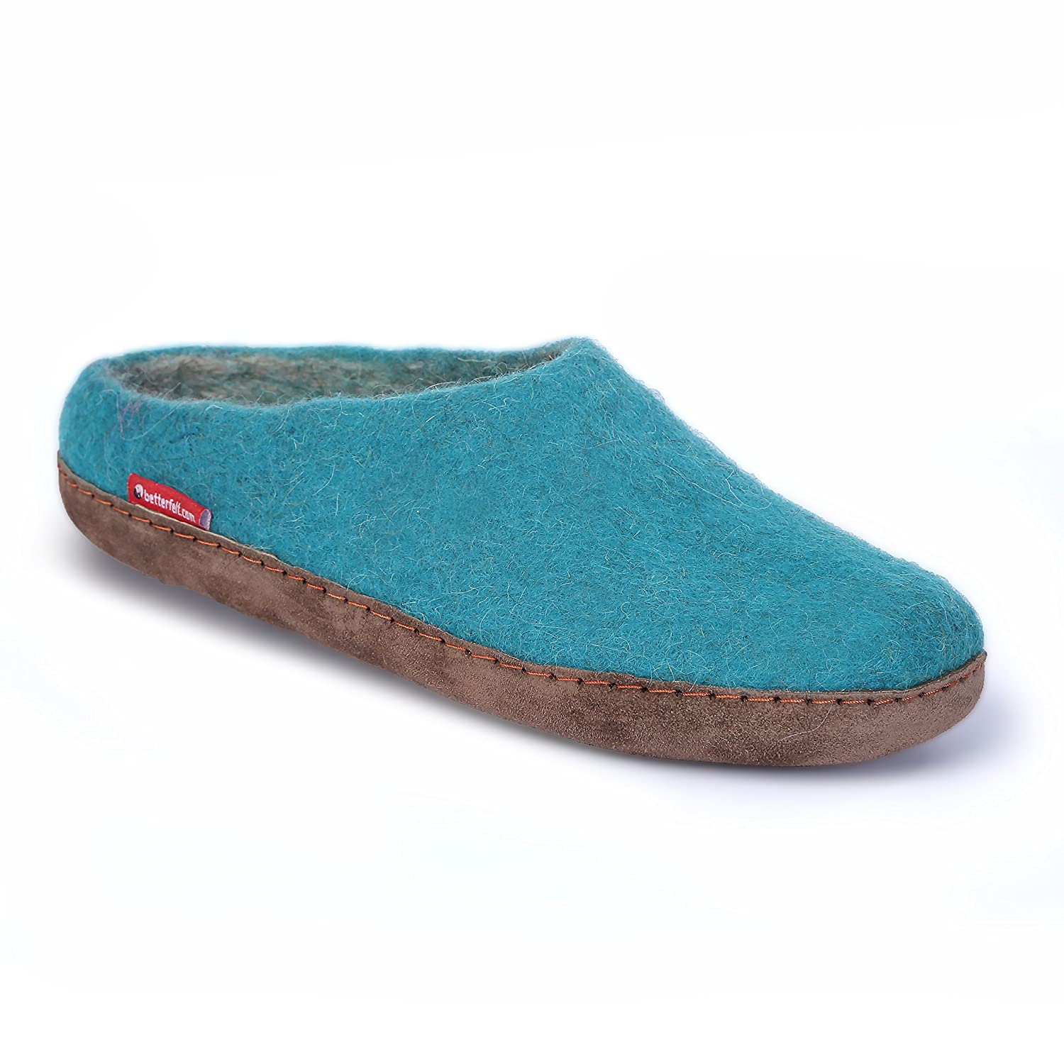 betterfelt Unisex Classic Woolen Slipper for Adults - All Natural Wool - Ultra Comfortable - Many Sizes and Colors B079CL1627 Adult 42 Light Blue-grey