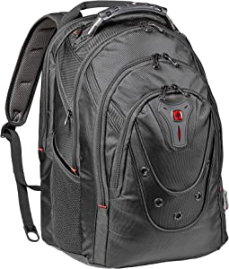 """Wenger 605501 Ibex 17"""" Backpack Made from Ballistic Polyester in Black {26 litres}"""