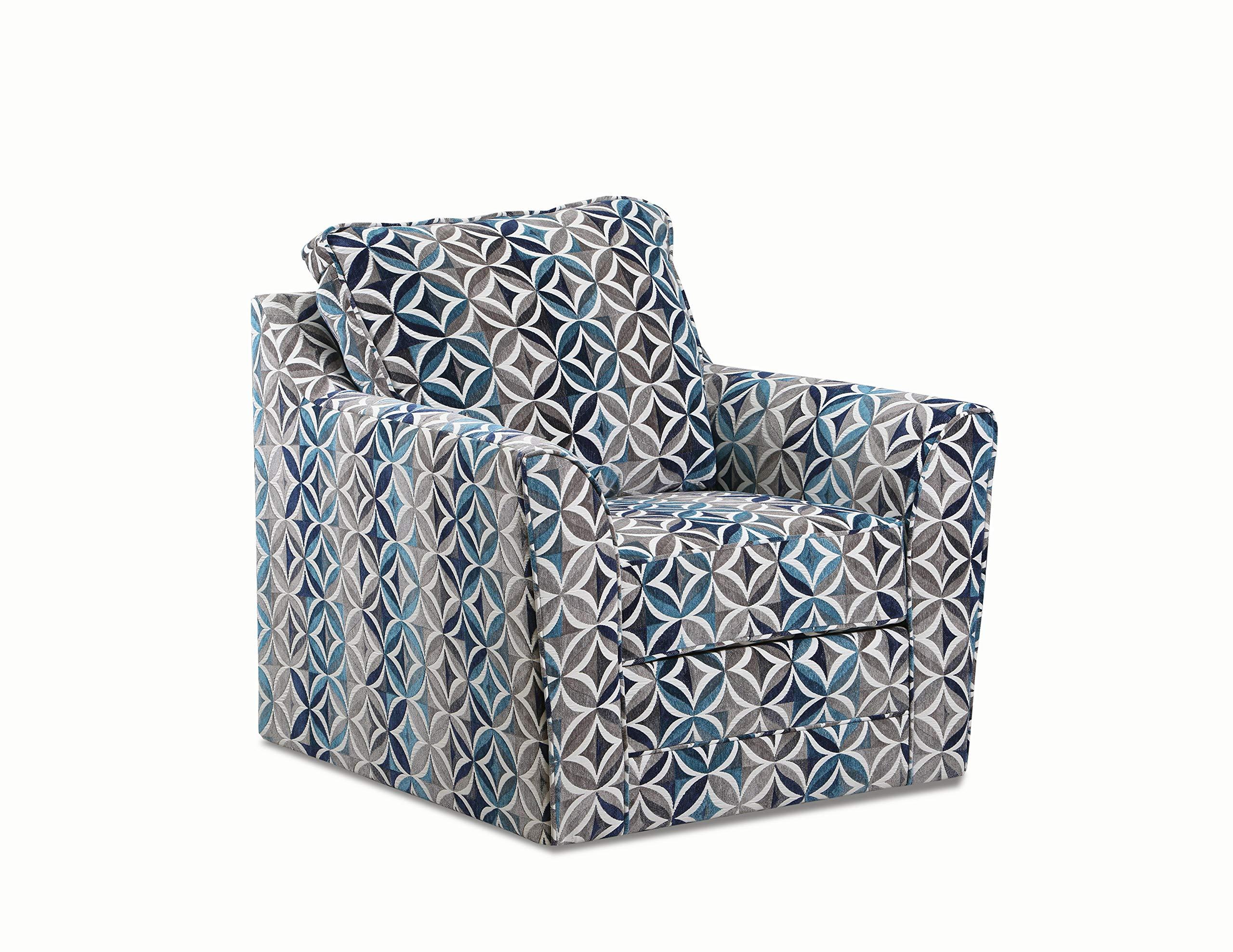 Lane Home Furnishings 2013-01S Terrazzo Pacific Swivel Chair, Multi-Color by Lane Home Furnishings