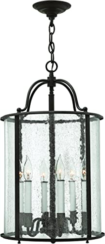 Hinkley 3478OB Traditional Six Light Foyer from Gentry collection in Bronze Darkfinish,