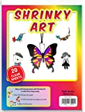 Dabit Shrinky Art Paper Shrinkles That's Fun for Kids and Adults for Classroom, Easy Creation of Shrinky dinks Art & Crafts, 20-pack