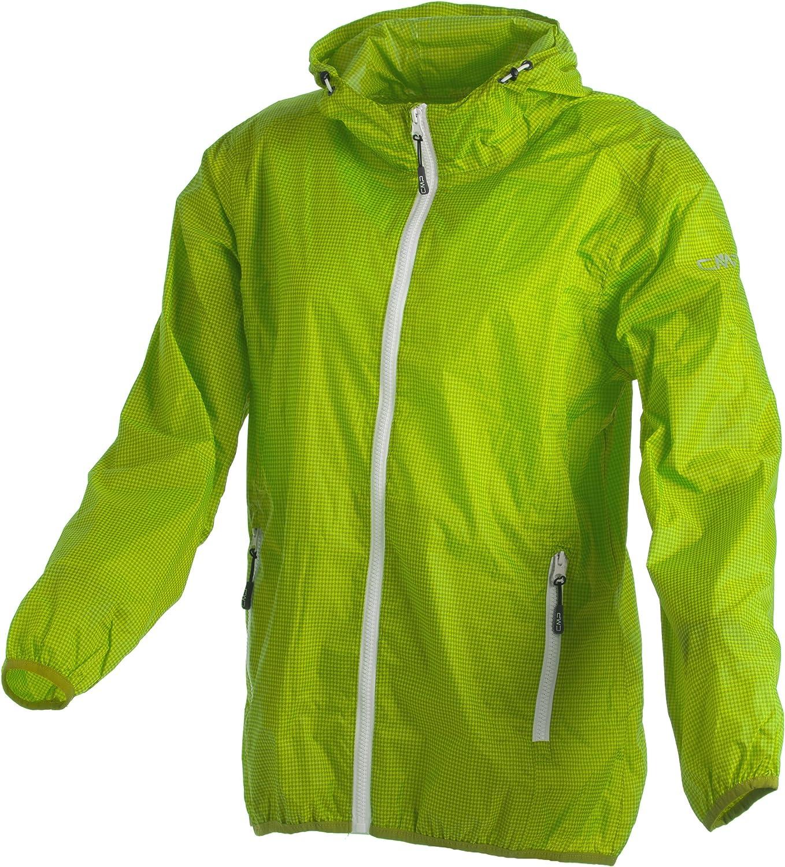EU F.LLI Campagnolo Girls Rain Jacket Green Mela-Yellow Size:152 CMP
