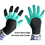 ZaoProteks ZP5010A Garden Gloves (Green Sleeve with Left Hand Claws)