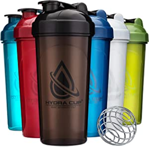 6 PACK - Hydra Cup OG Shaker Bottles, 28 oz Max Value Pack, Protein Shaker Cups, 6qty Stand Out Colors.