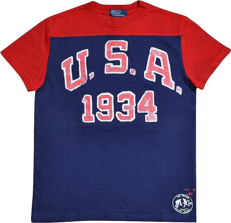 Polo Ralph Lauren - Camiseta de Manga Corta - para niño Rojo Talla ...