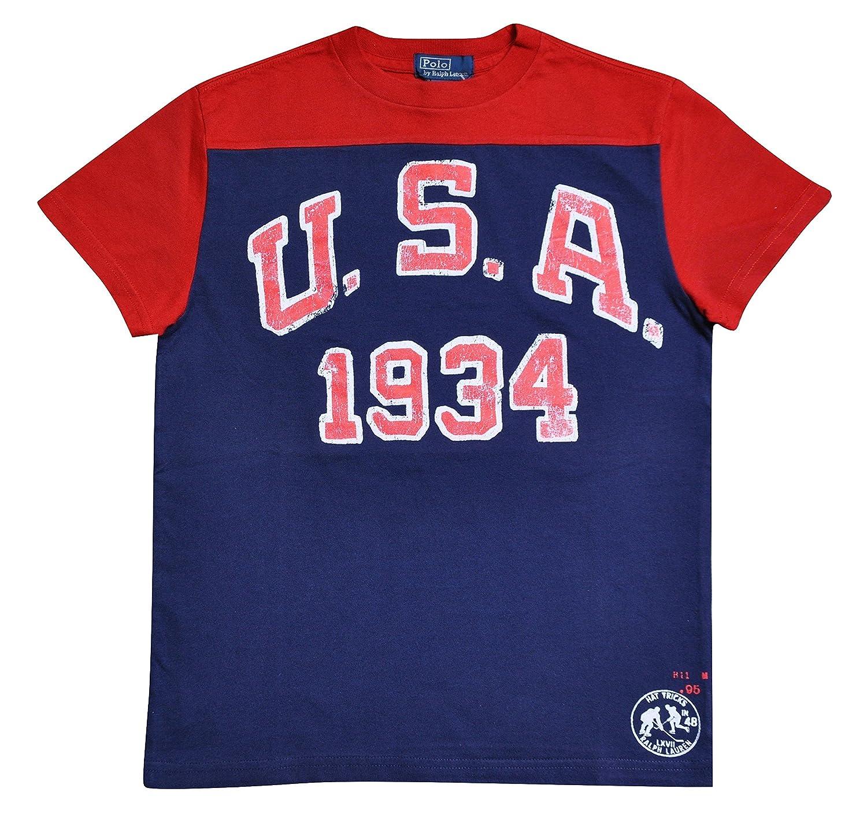 Polo Ralph Lauren - Camiseta de manga corta - para niño rojo Talla única: Amazon.es: Ropa y accesorios