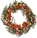 The Wreath Depot Nashua Blossom Fall Front Door Wreath, 22 Inches