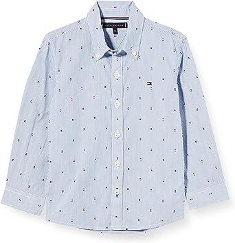 Tommy Hilfiger Yarn Dyed Stripe Print Shirt L/S Camisa para Niños