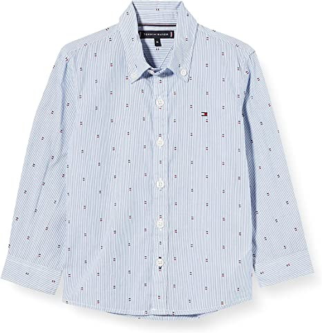 Tommy Hilfiger Yarn Dyed Stripe Print Shirt L/S Camisa para Niños: Amazon.es: Ropa y accesorios