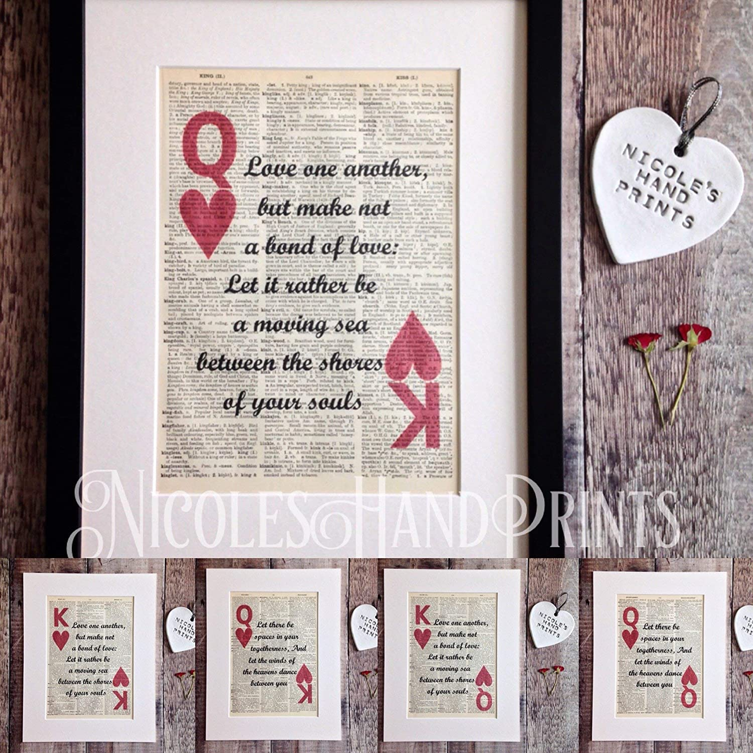 King And Queen Gifts Love Quote Gifts Kahlil Gibran The Prophet