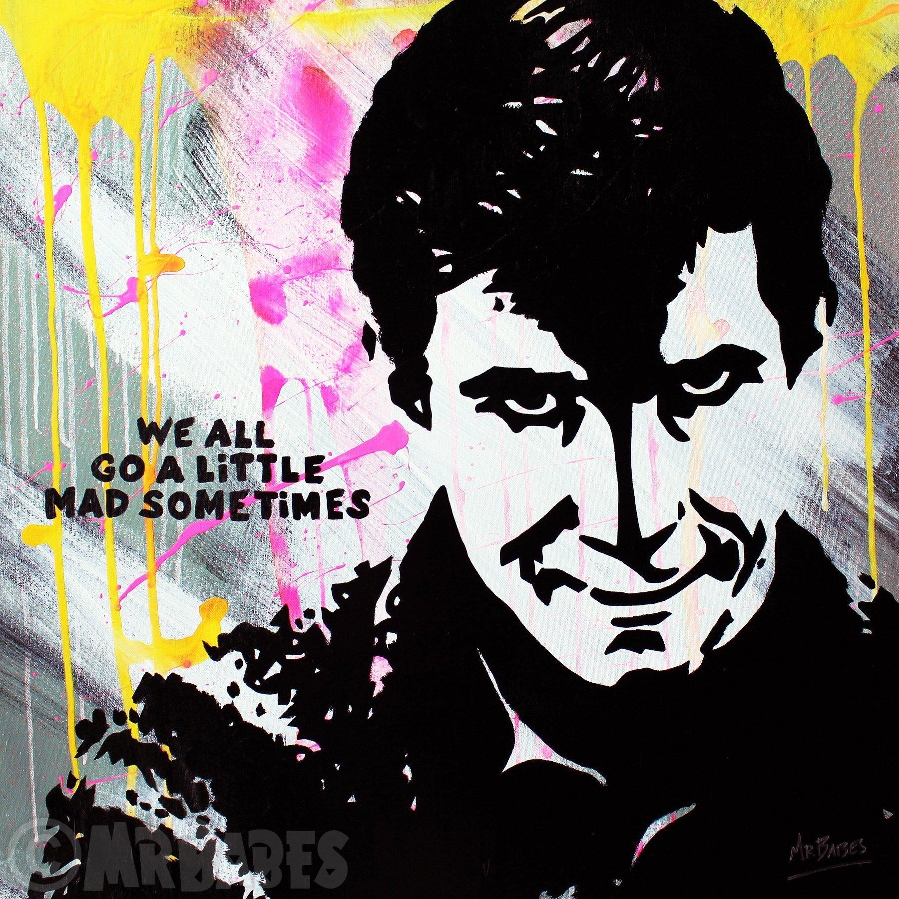 MR.BABES - ''Psycho: Norman Bates (Anthony Perkins)'' - Original Pop Art Painting - Movie Portrait