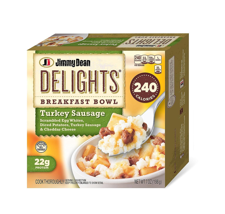 Jimmy Dean D-Lights Turkey Sausage Bowl, 7 oz (Frozen): Amazon.com: Grocery & Gourmet Food
