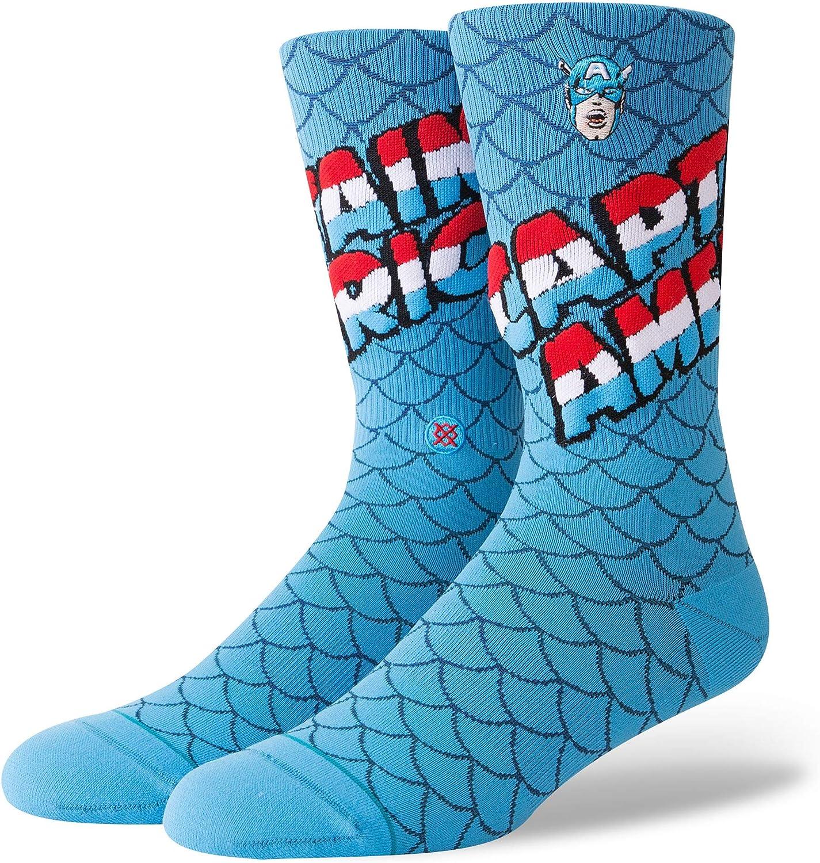 Stance Marvel Captain America Everyday Light Cushion Calcetines Hombre Azul