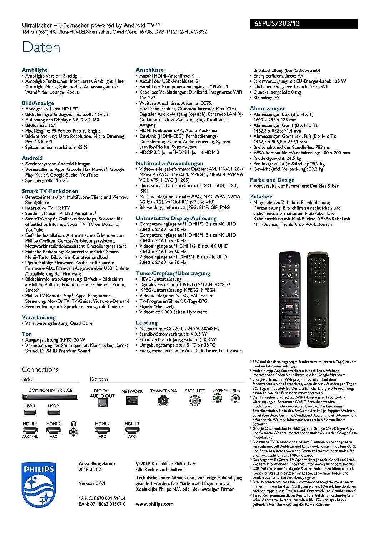 Philips Ambilight 65PUS7303/12 Fernseher 164 cm (65 Zoll