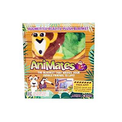 AniMates Augmented Reality Jungle Themed Children's Blanket - Super Soft Plush Educational and Interactive Baby Blanket - Next Generation of Baby Blankets - Free Compatible App Available for Download: Home & Kitchen