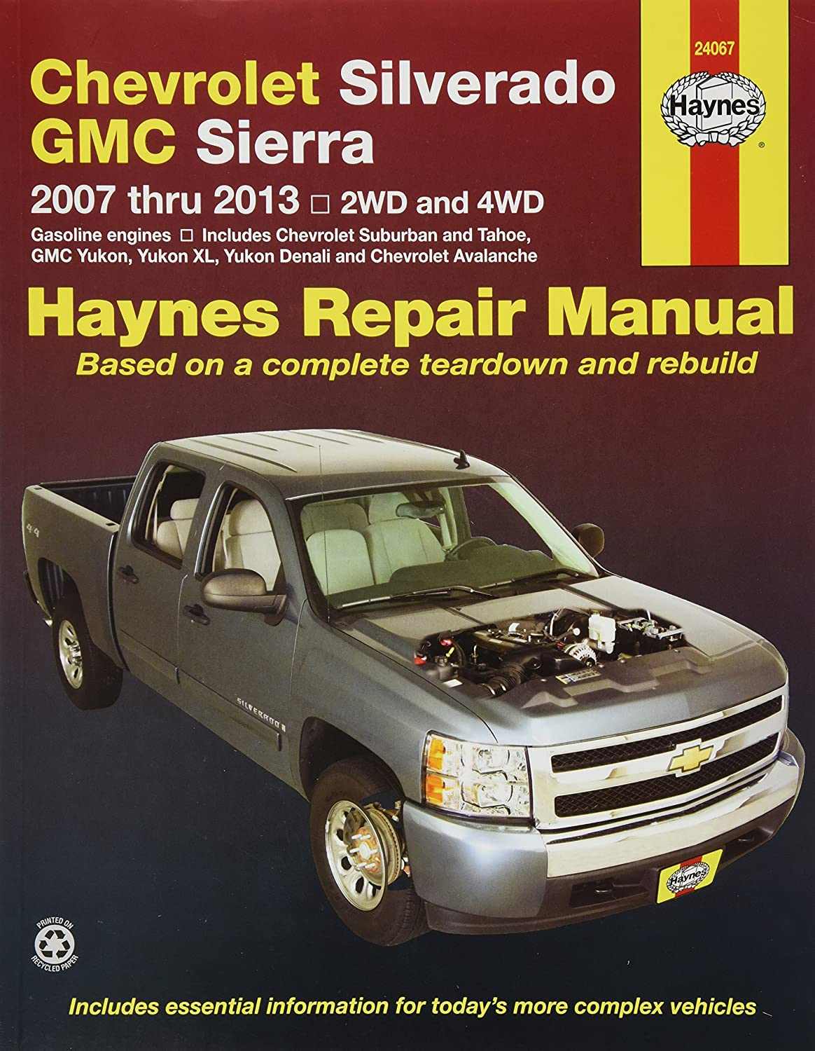 Avalanche 2007 chevy avalanche owners manual pdf Amazon.com: Haynes 24067 Chevy Silverado & GMC Sierra Repair ...