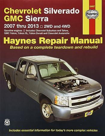 Amazon haynes 24067 chevy silverado gmc sierra repair haynes 24067 chevy silverado gmc sierra repair manual 2007 2013 fandeluxe Gallery