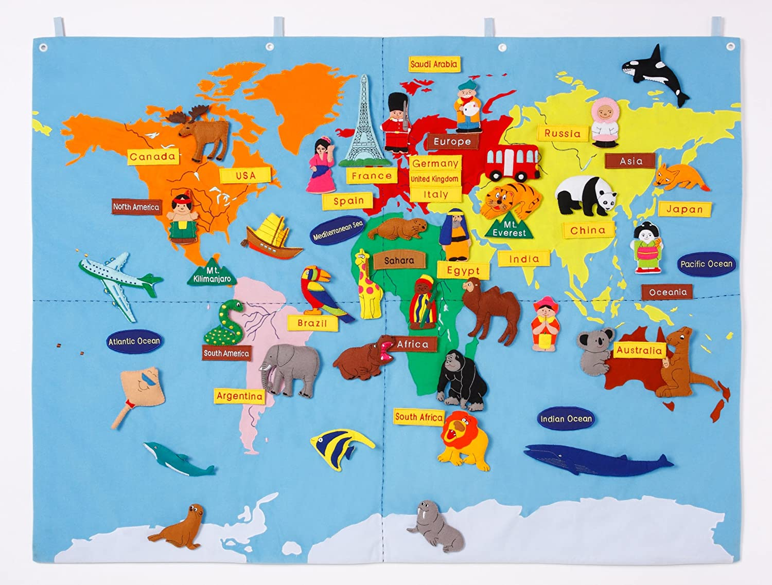 World map with 65 motifs 90 x 120 cm amazon toys games gumiabroncs Images