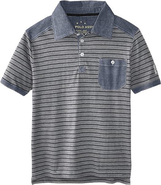 U.S. Polo Assn. Niños HD23 Camisa Polo - Gris - 3 años: Amazon.es ...