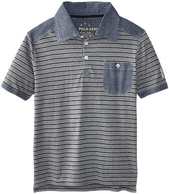 909bff88517 Amazon.com: U.S. Polo Assn. Big Boys' Jersey Embellished Polo: Clothing