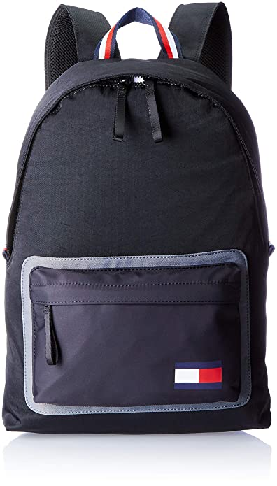 Tommy Hilfiger - Utility Backpack, Mochilas Hombre, Negro (Black), 18x49x35 cm