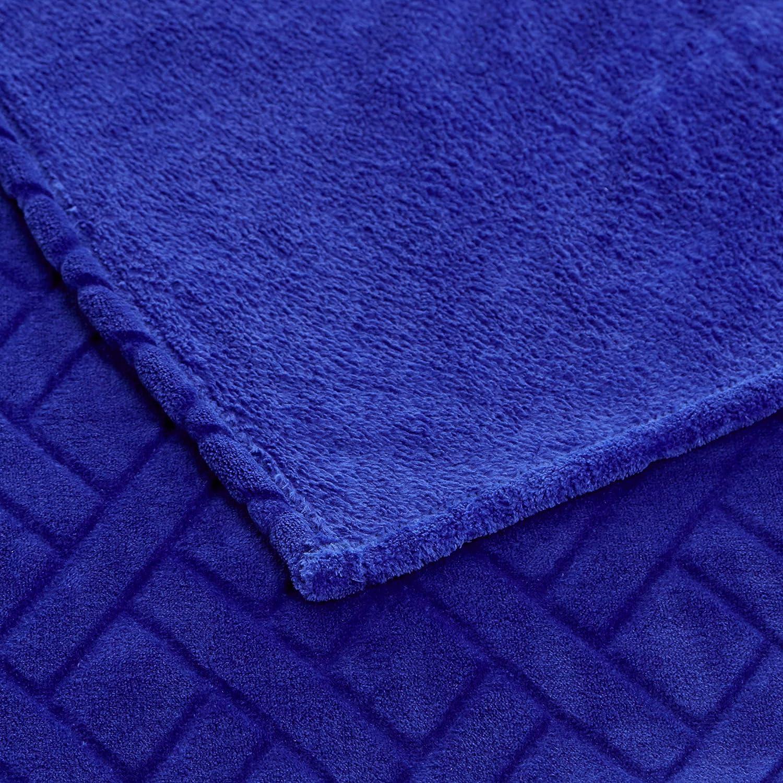 Bleu Basics Couverture en polaire gaufr/ée 150 x 200 cm