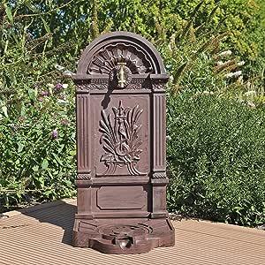 CLGarden WZS6 Grifo de Agua, Fuente de diseño nostálgico Fabricado en Aluminio Fundido, Que Incluye Grifo Libre, Independiente o en la Pared: Amazon.es: Jardín