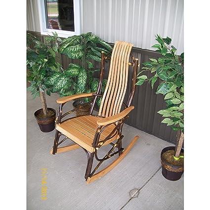 Au0026L FURNITURE CO. 7  Slat Hickory Rocking Chair