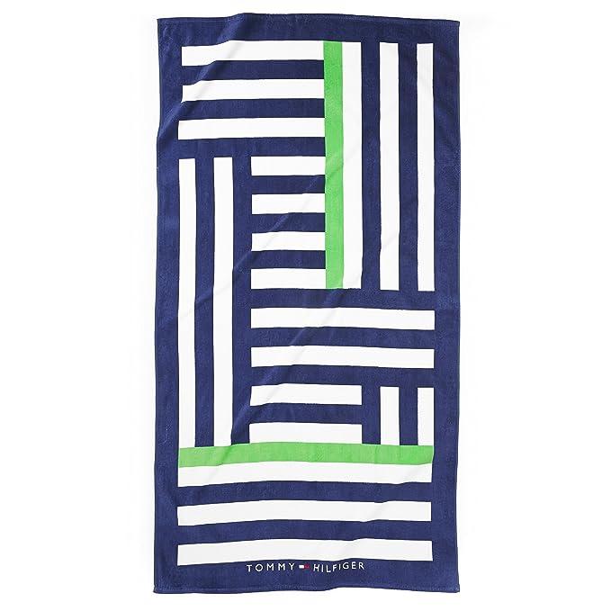 Tommy Hilfiger toalla de playa, de tamaño grande, diseño de rayas Irregular: Amazon.es: Hogar