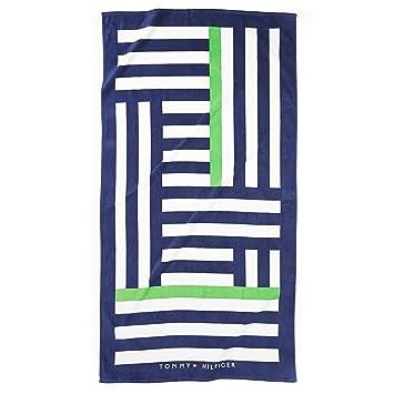 Tommy Hilfiger toalla de playa, de tamaño grande, diseño de rayas Irregular