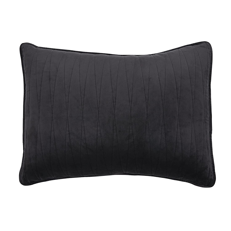 Brielle Premium Heavy Velvet Quilt Set with Cotton Backing, Twin, Burgundy 807000225576