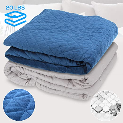 """U.S Solid Weighted Blanket 60x80/"""" 20 lbs Sensory Blanket for Adults US Stock"""