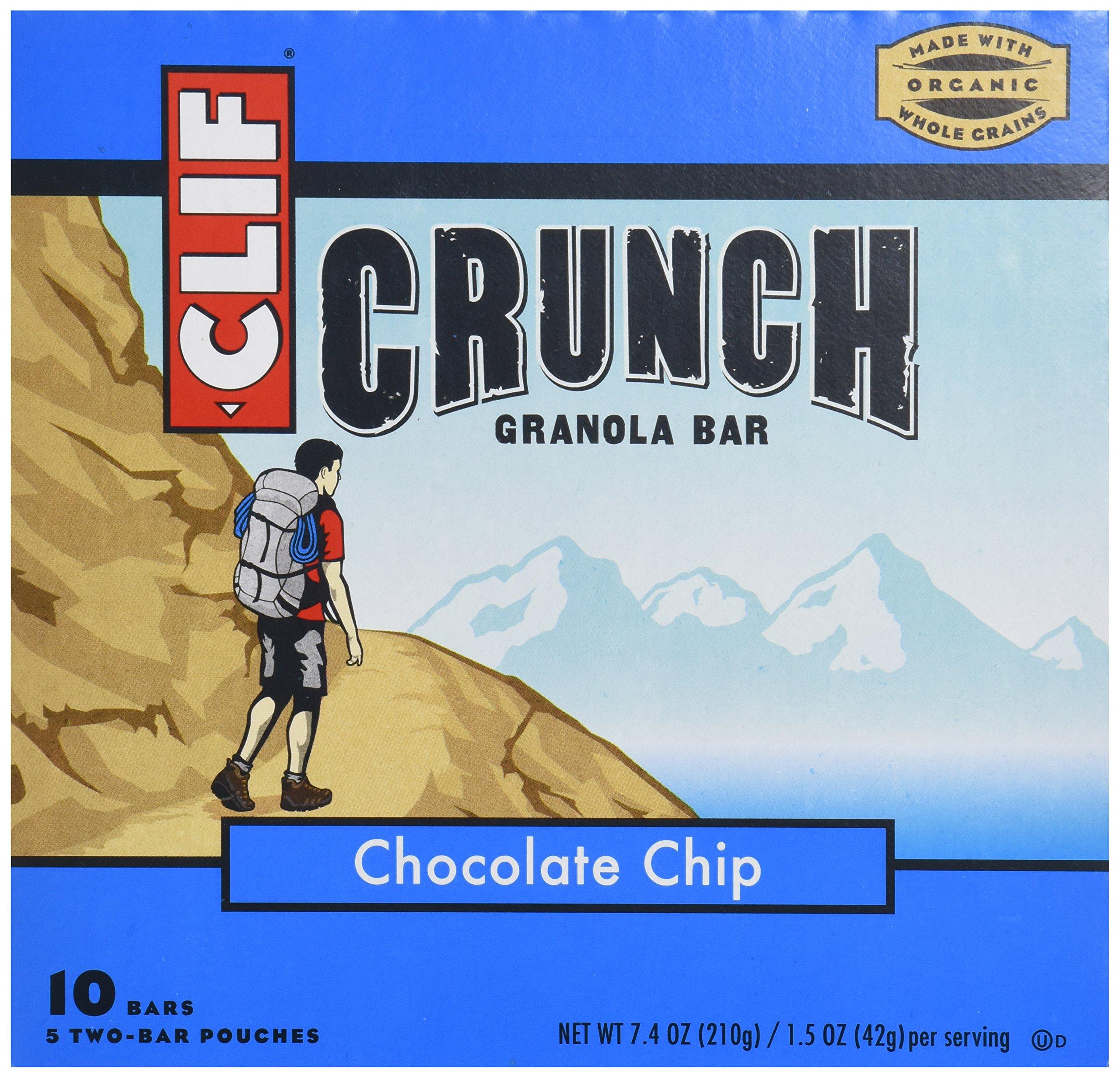 Clif Bar - Crunch Granola All Natural Chocolate Chip - 10 Bars