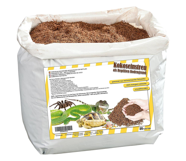 20litros natural terrarios ubstrat múltiple en bolsa de seca y streufähig–100% puro Coco Tierra como sustrato einstreu de coco coco de suelos Humusziegel