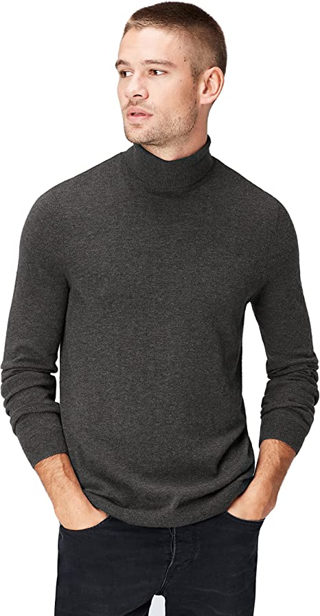 TALLA M. Marca Amazon - find. Roll Neck - Suéter Hombre
