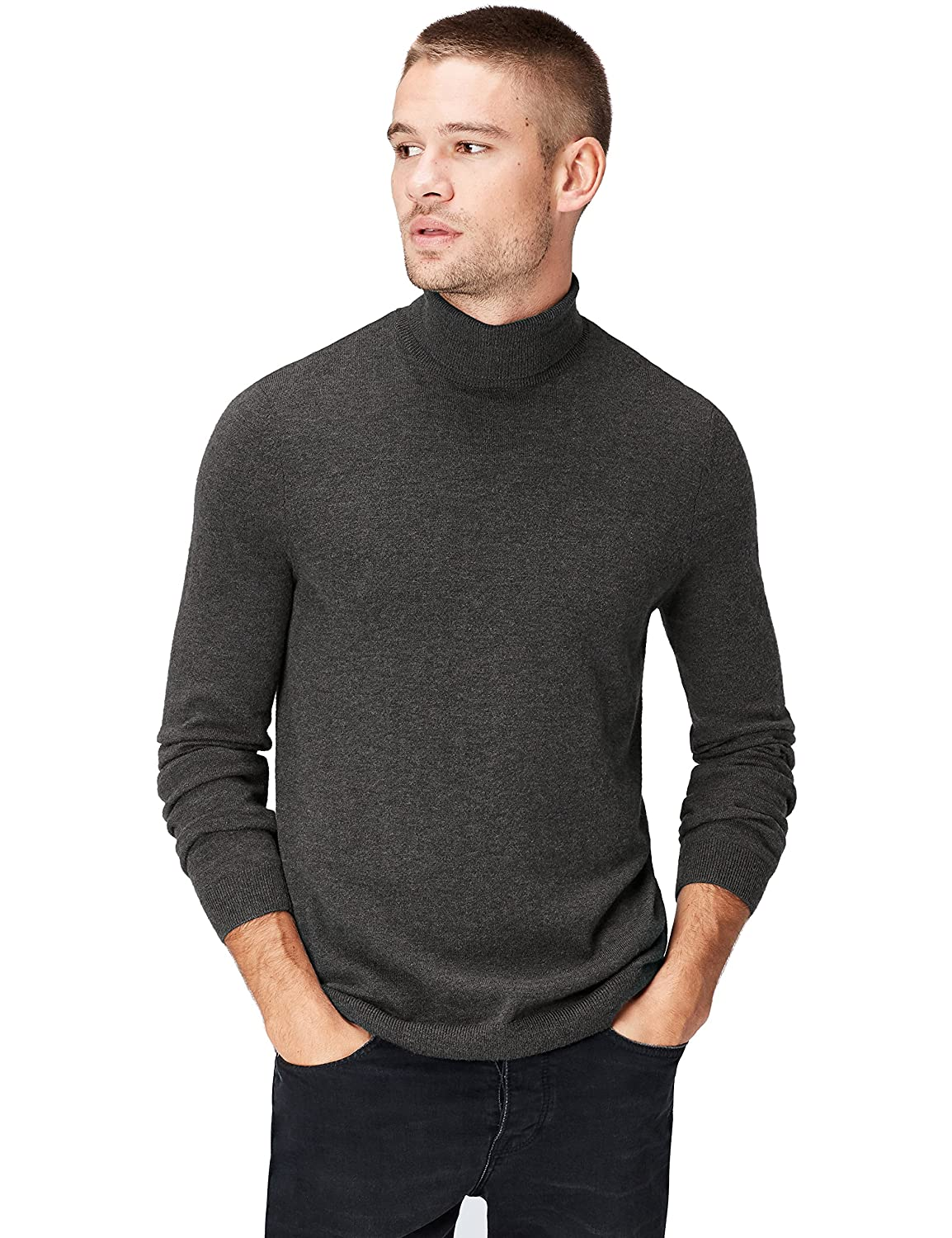 Marca Amazon: find. Roll Neck - Suéter Hombre