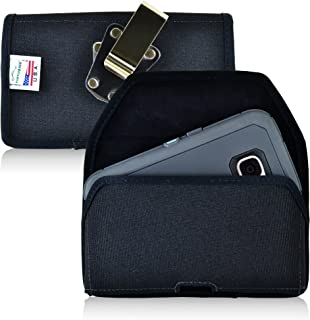 product image for Turtleback Belt Clip Case Made for Samsung Galaxy S7 with Otterbox Defender Case Black Holster Nylon Pouch with Heavy Duty Rotating Belt Clip Horizontal Made in USA