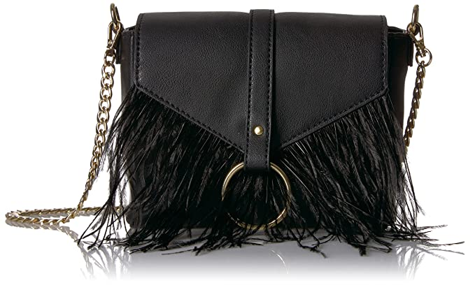 d1806aced0 Amazon.com  The Fix Courtney O Ring Feather Cross-Body Bag  Clothing