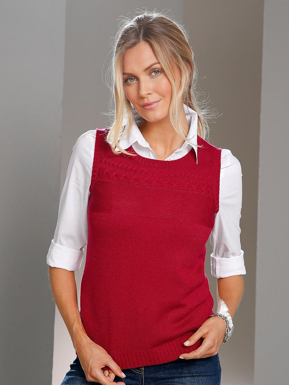 Paola Damen Pullunder Rot 46