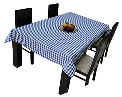 Airwill Branded, 100% Cotton Gingham Checks with Multicolor Combos of 4/6 Seater Tablecloth, Sized 140cm Width and 140cm Length