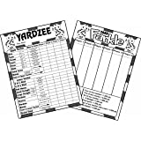 Laminated Yardzee and Farkle Scorecards, with Instructions, for Large Outdoor Dice, Bundle of 2