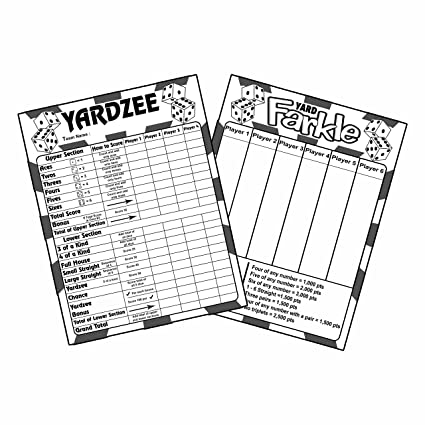 graphic relating to Farkle Instructions Printable titled : Laminated Yardzee and Farkle Scorecards, with