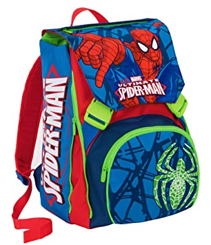 Mochila Extensible - Marvel Ultimate Spiderman - Azul - Cartera Escolar 31Lt: Amazon.es: Equipaje