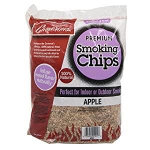 Camerons Smoking Chips (Apple)- 2 Pound Bag Barbecue Chips- Kiln Dried, Natural Extra Fine Wood Smoker Sawdust Shavings